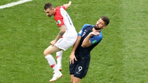 Olivier Giroud Marcelo Brozovic France Croatia World Cup final 2018