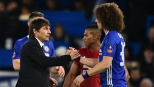 Antonio Conte David Luiz Chelsea Manchester United FA Cup 13032017