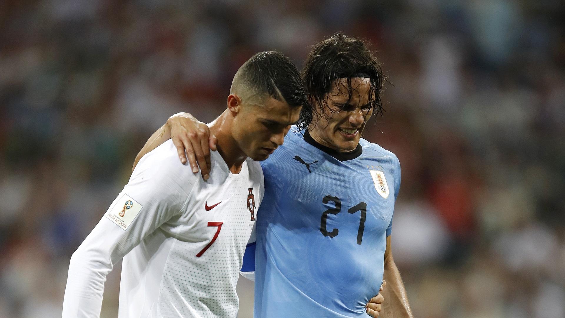 Uruguay, Cavani oscura Ronaldo: una doppietta da urlo poi il crac