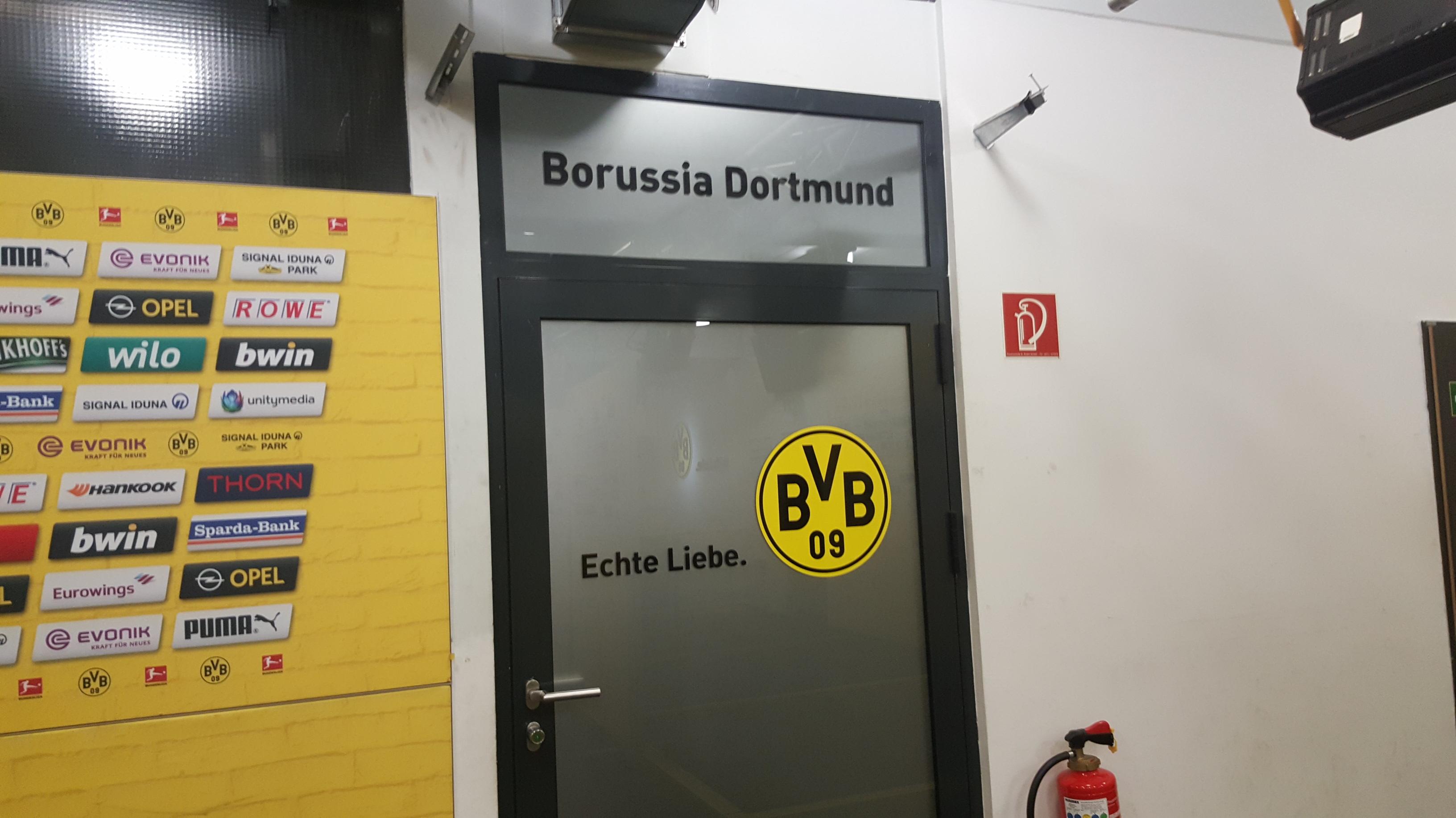 Borussia Dortmund dressing room at Signal Iduna Park, 16042018
