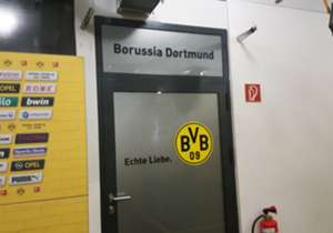 Entrance to one of the Signal Iduna Park changing rooms. 'Echte Leibe' means True Love. Who says the Germans aren't romantic?