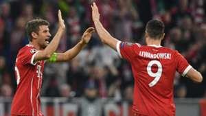 Thomas Muller Robert Lewandowski Bayern Munich