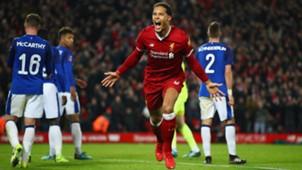 Virgil van Dijk Liverpool FA Cup Everton 0118