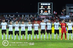 T-Team's first eleven against Sarawak 21/1/2017
