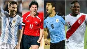 Maximos goleadores eliminatorias sudamericanas