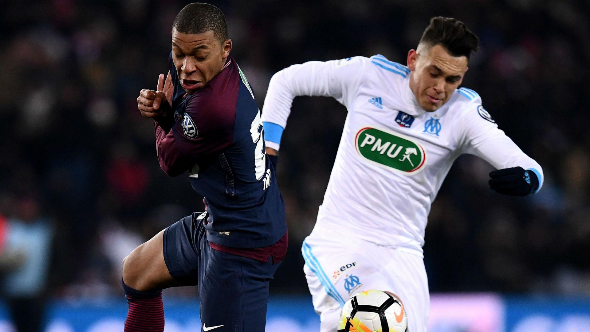 Kylian Mbappe Lucas Ocampos PSG Marseille Coupe de France 28022018