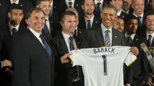 Bruce Arena Robbie Keane Barack Obama LA Galaxy 02022015