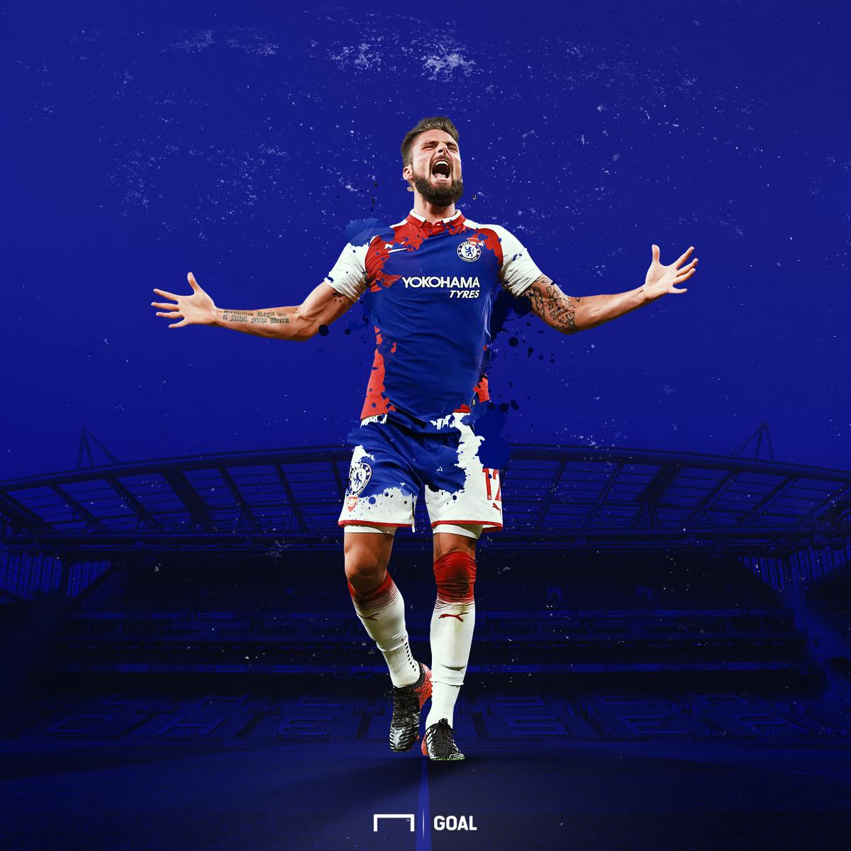 Olivier Giroud Arsenal-Chelsea GFX