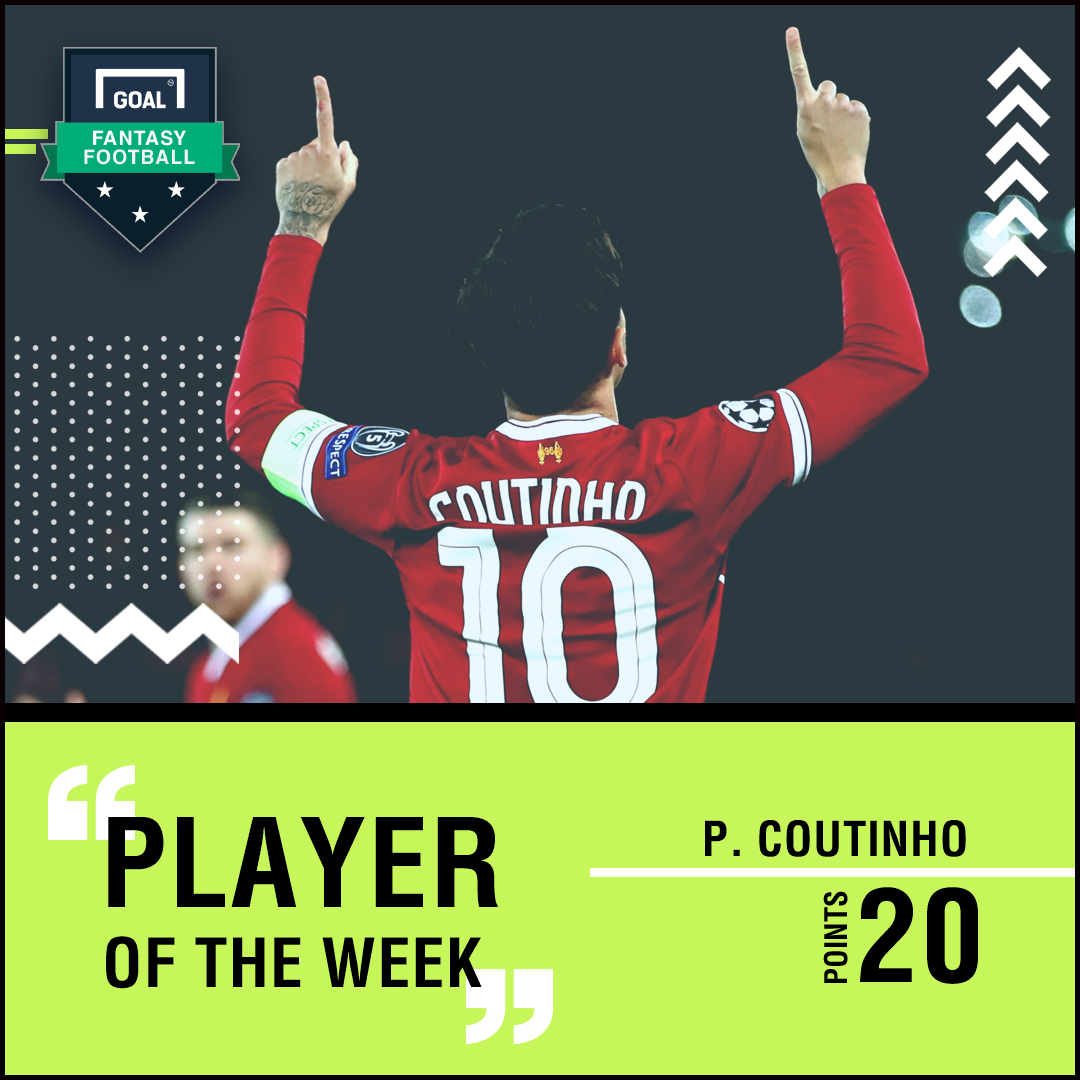 Coutinho UCL POW graphic