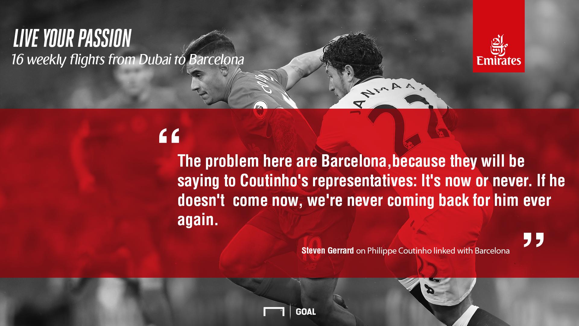 Gerrard on coutinho