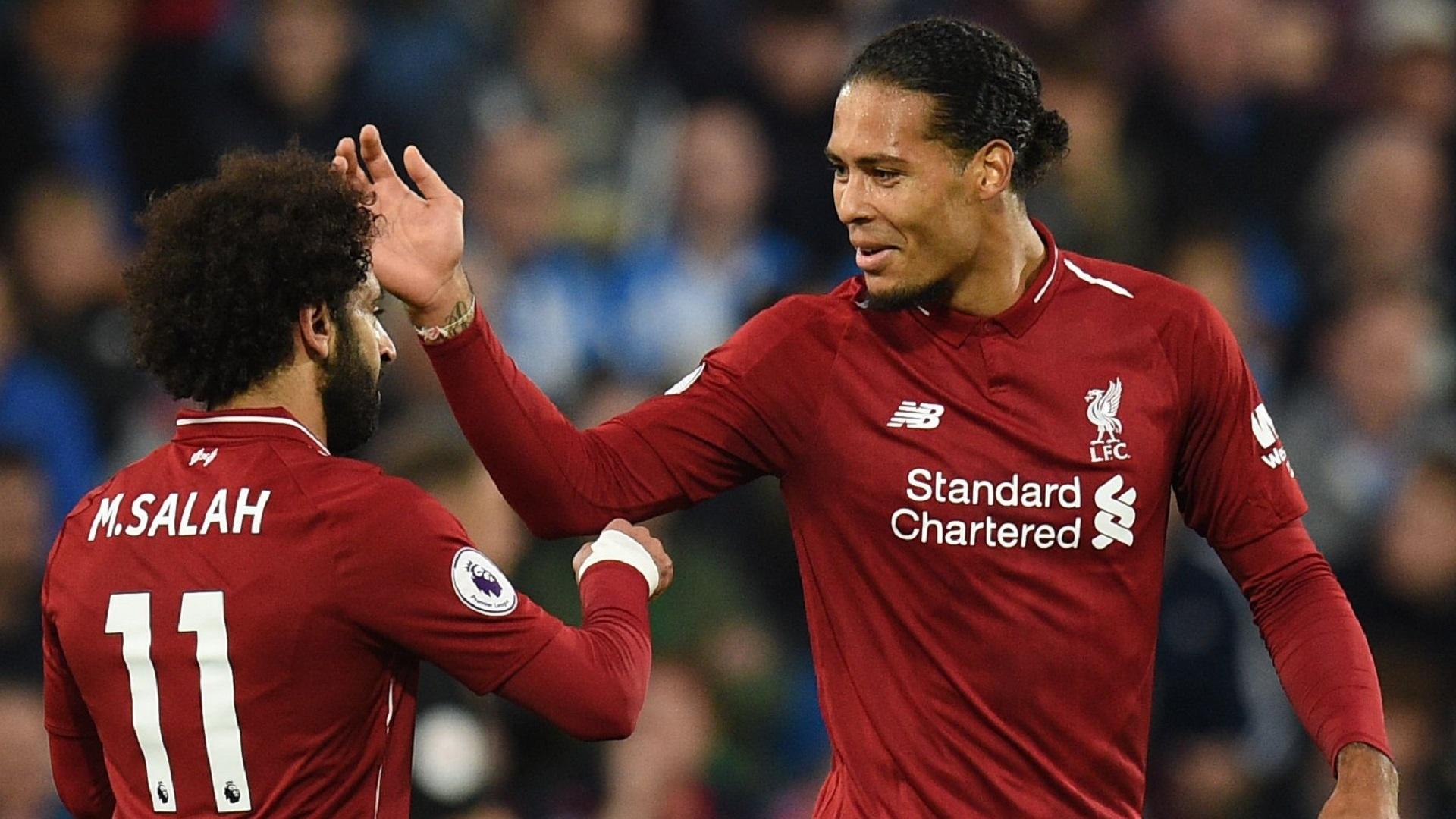 Mohamed Salah Virgil van Dijk Liverpool 24102018