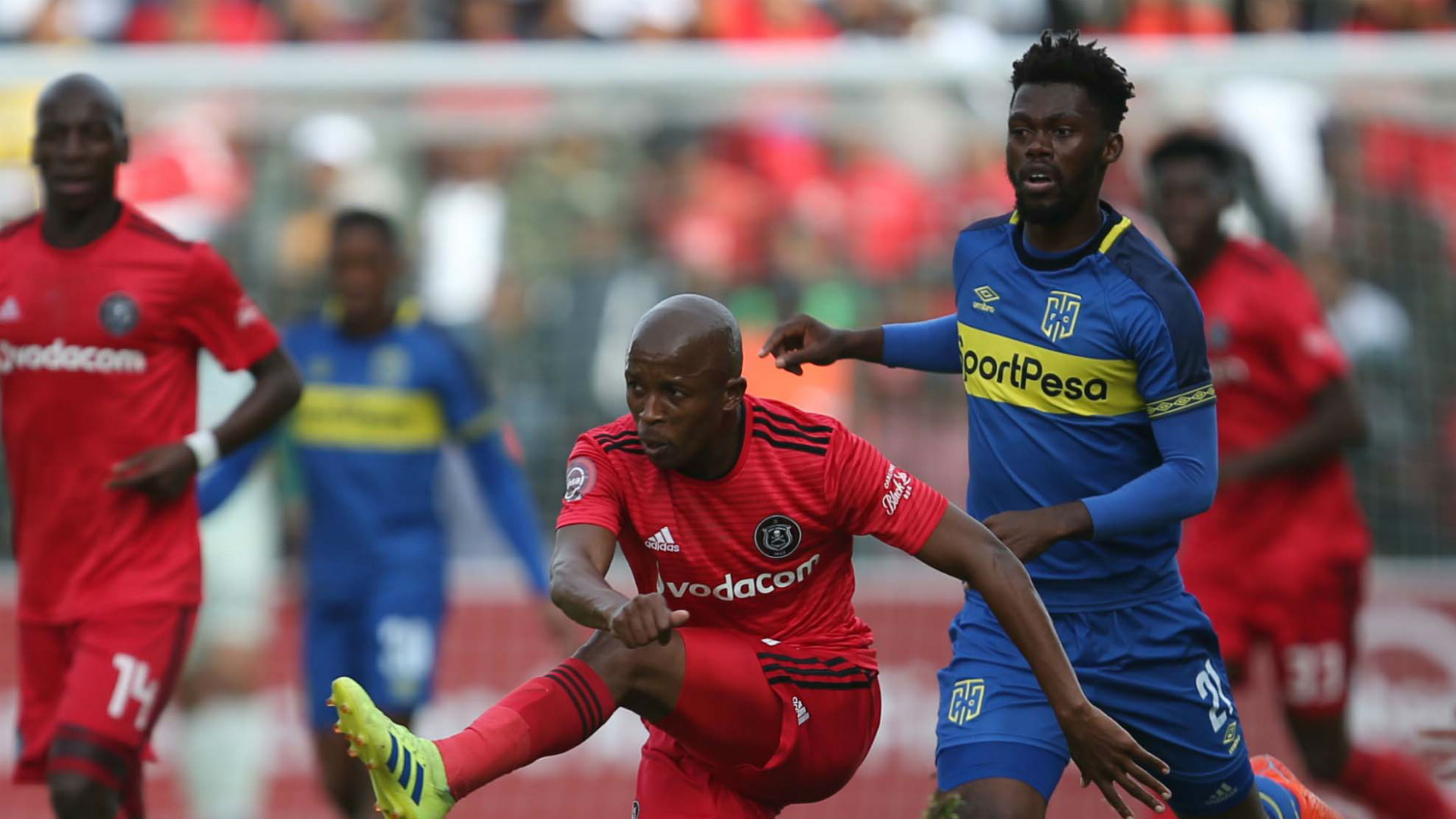 Luvuyo Memela, Orlando Pirates & Thato Mokeke, Cape Town City, May 2019
