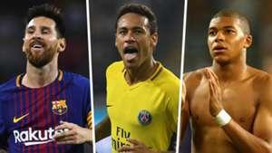 Messi Neymar Mbappe GFX