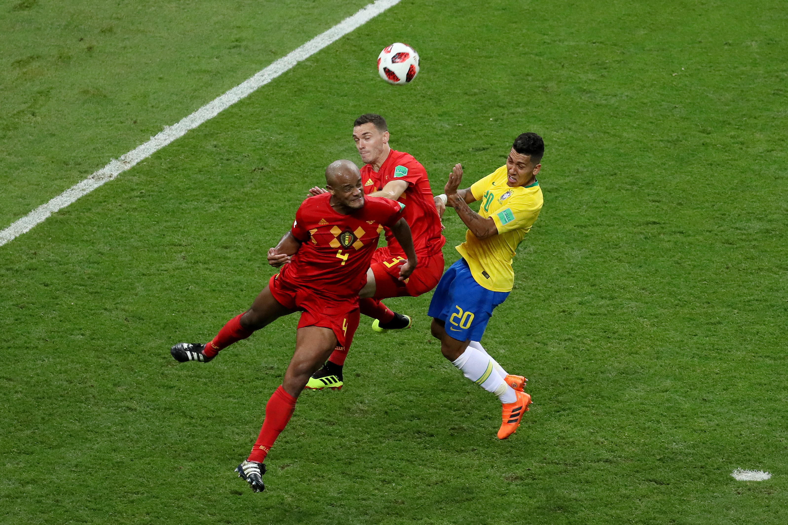Vincent Kompany Thomas Vermaelen Roberto Firmino Brazil Belgium World Cup 07/06/18