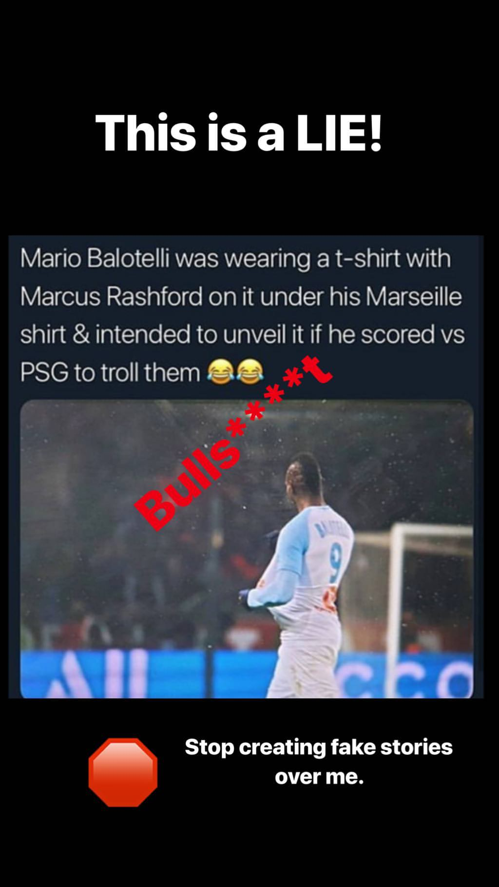 EMBED ONLY Mario Balotelli Rashford reaction