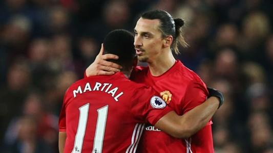 Anthony Martial Zlatan Ibrahimovic Manchester United