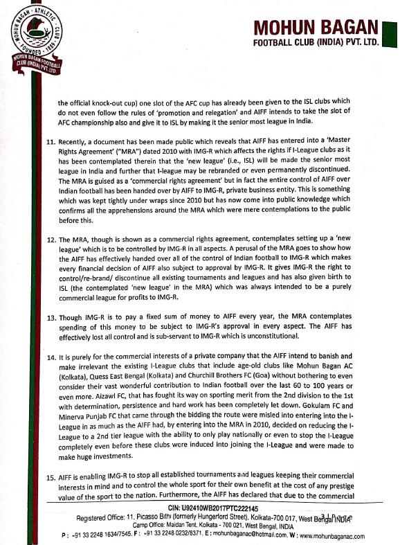 Page 3 - Mohun Bagan letter to PM Modi