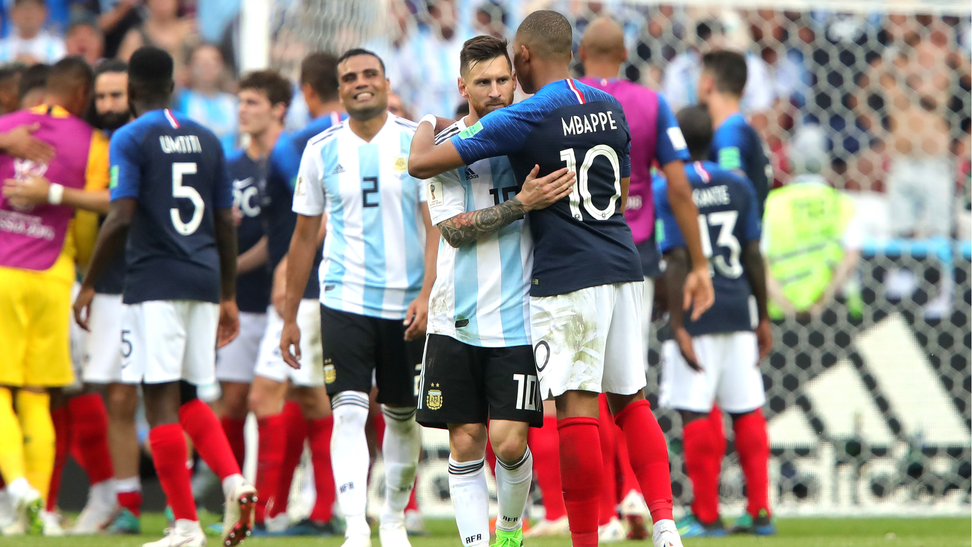 Lionel Messi Kylian Mbappe Argentina France World Cup 2018