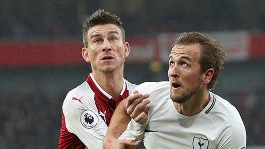 Laurent Koscielny Arsenal Harry Kane Tottenham 2017