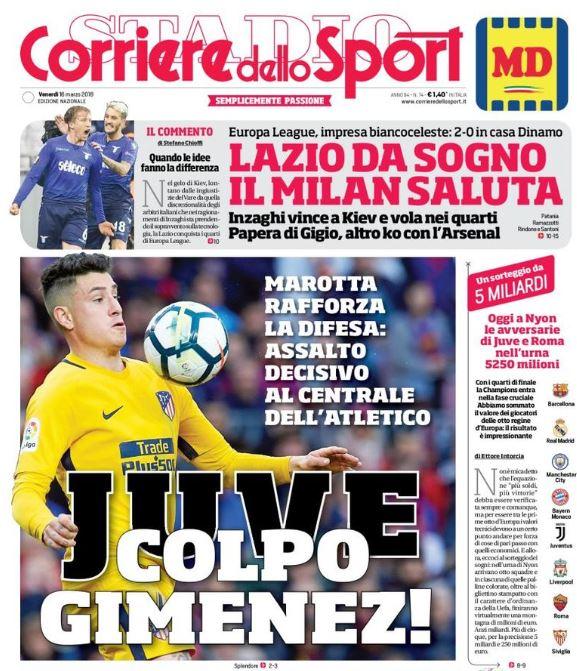 Corriere dello Sport cover