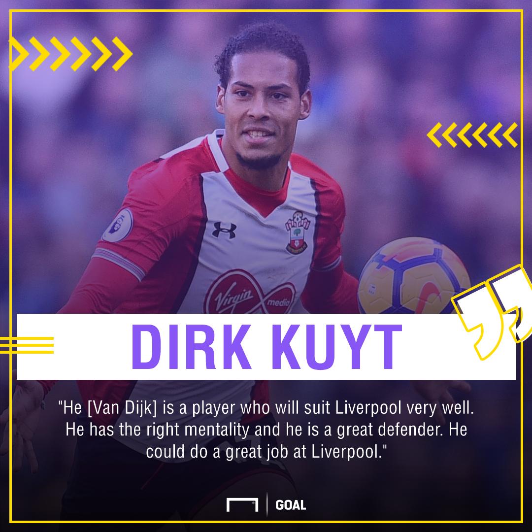 Dirk Kuyt Virgil van Dijk Liverpool