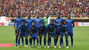 Tanzania get together for a team picture during the 2019 Afcon Qualifiers against Uganda on 08 September 2018 at Mandela Stadium, Namboole, Kampala