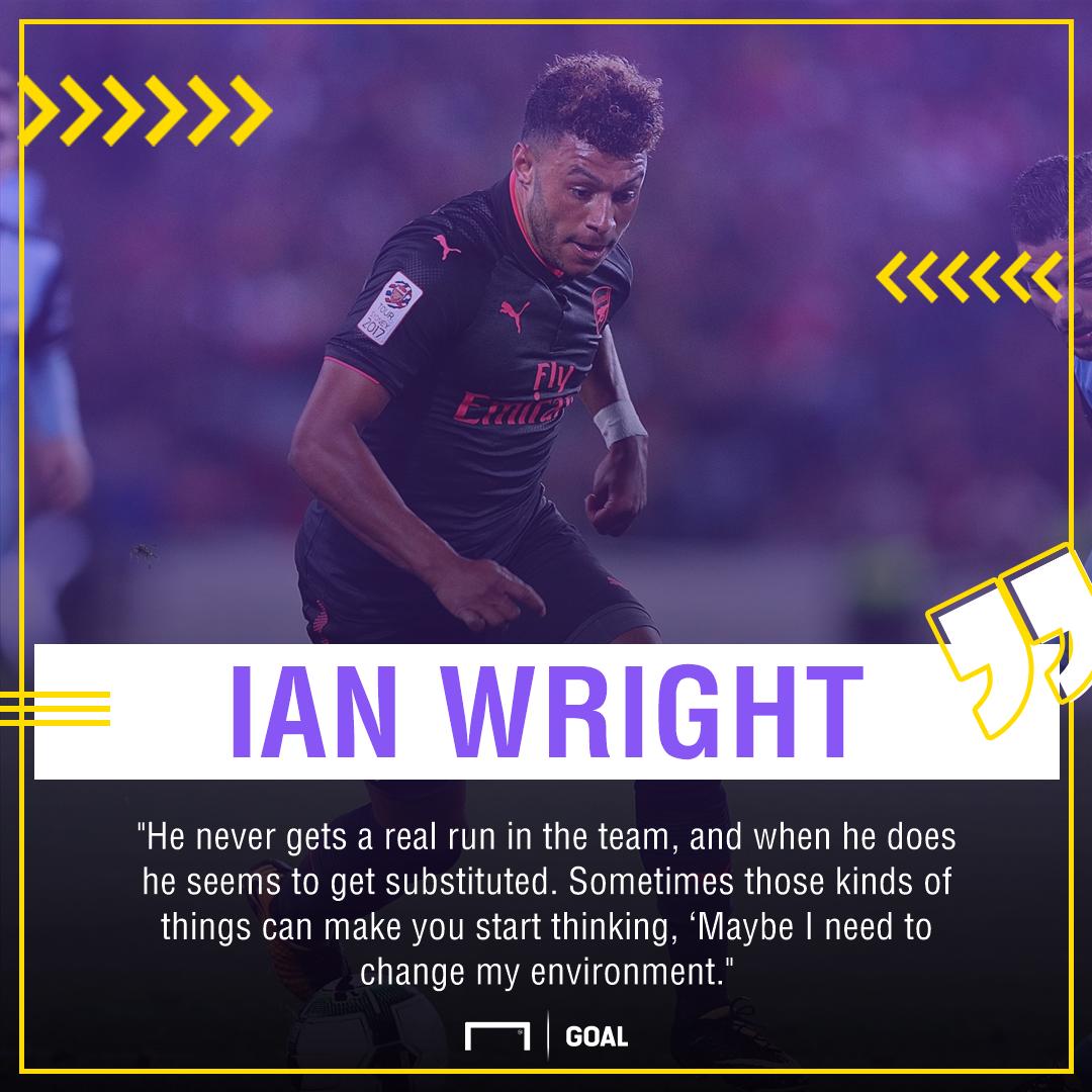 Ian Wright Alex Oxlade Chamberlain Arsenal future