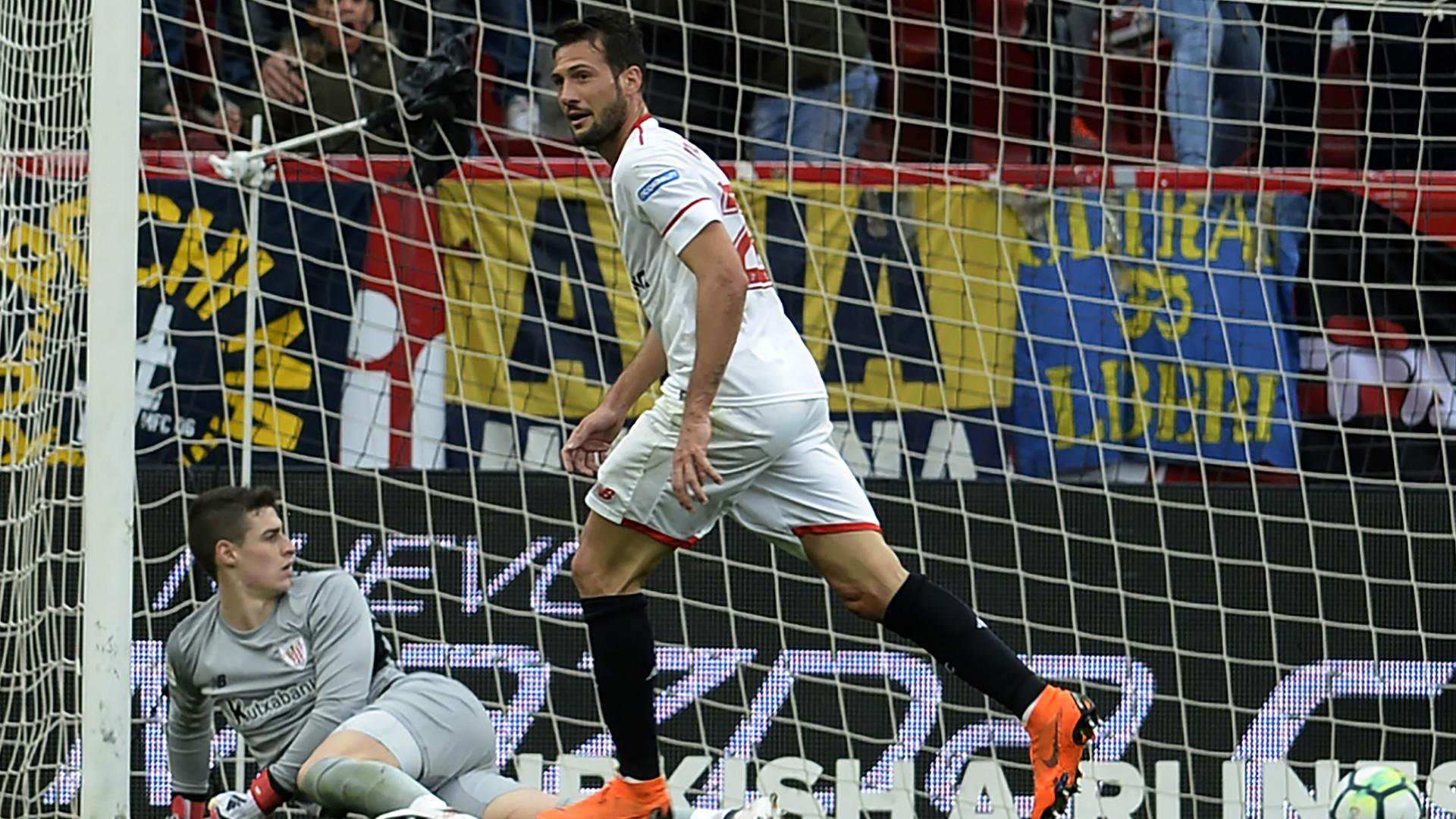 Muriel anotó en la victoria de Sevilla sobre Athletic