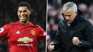 Marcus Rashford Jose Mourinho Man United