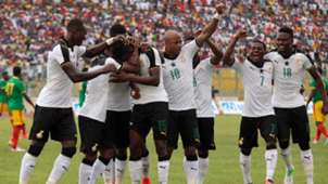 Andre Ayew, Daniel Amartey Ghana celebrate