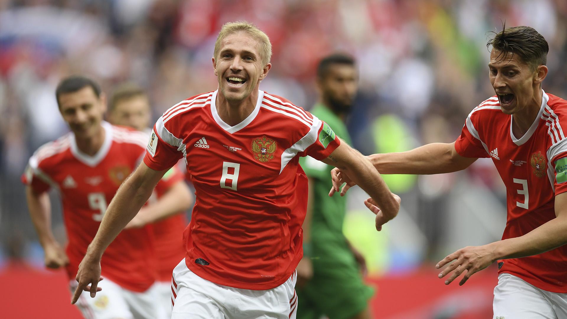 Iury Gazinsky Rússia x Arábia Saudita primeiro gol da copa 2018 14 06 18