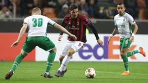 Andre Silva Cosmin Moti Milan Ludogorets UEFA Europa League 02222018