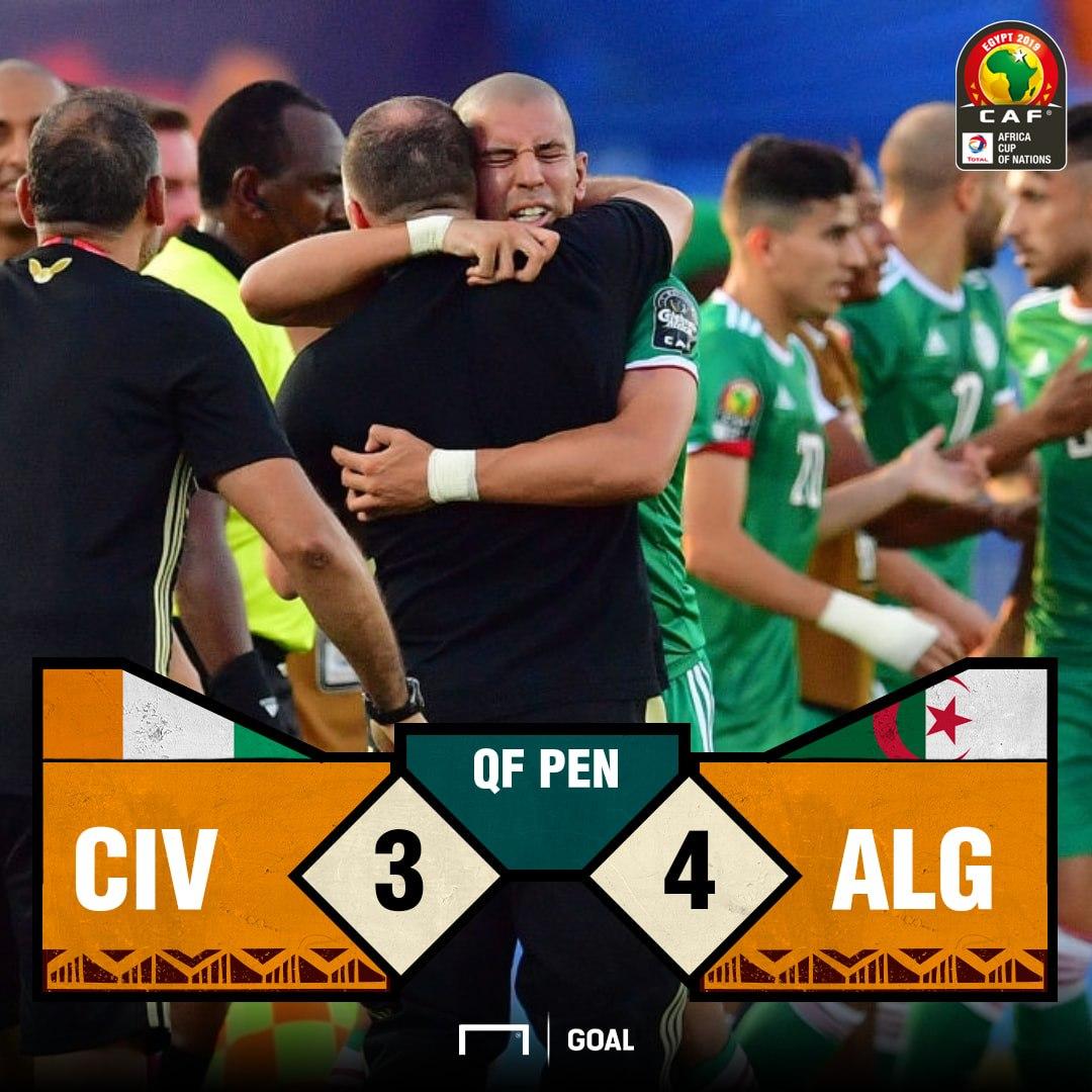 Algeria Ivory Coast Penalty score PS