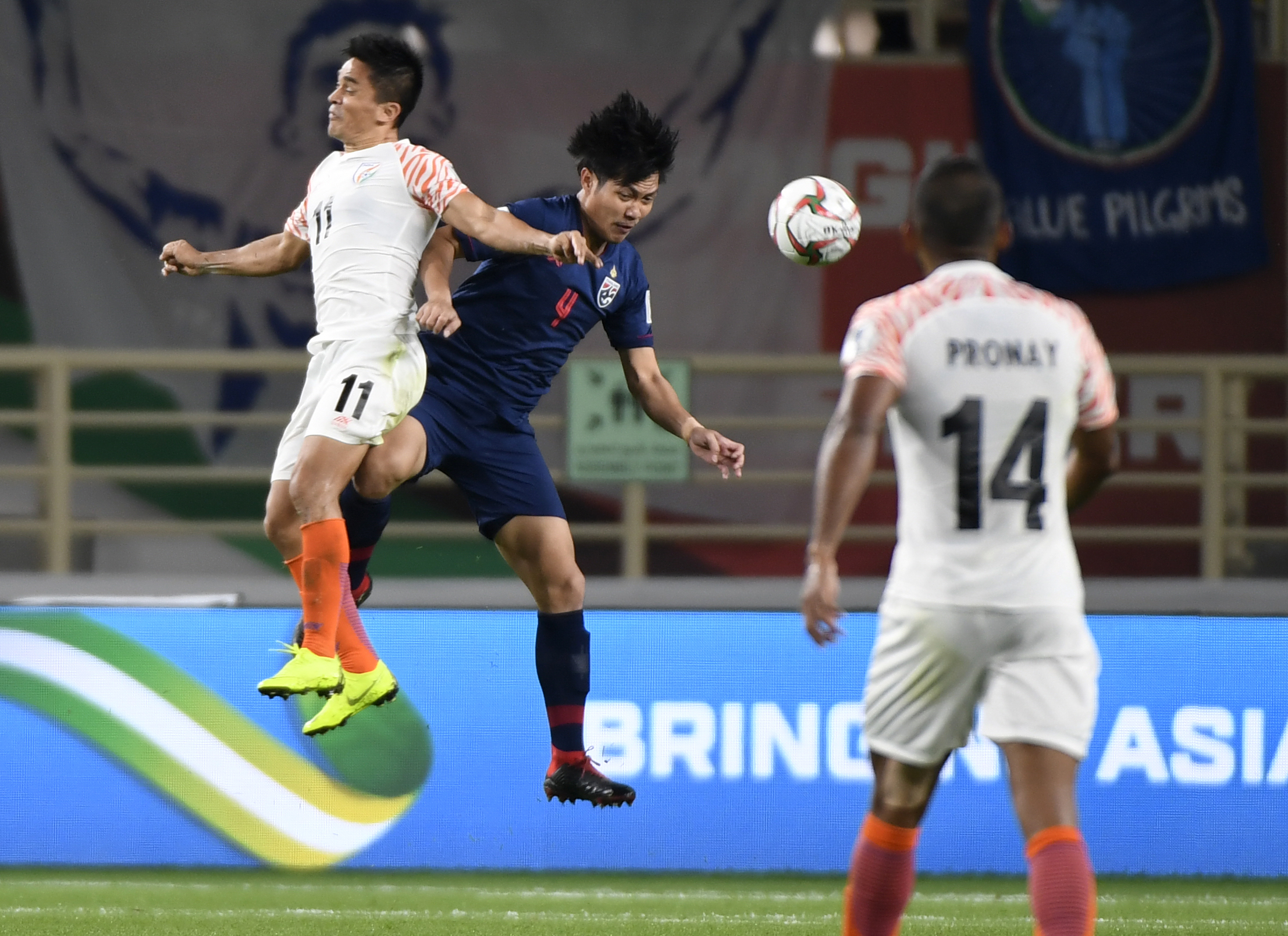 Sunil Chhetri's brace inspired the Blue Tigers to a victory over the War Elephants