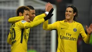 Neymar Kylian Mbappe Edinson Cavani PSG