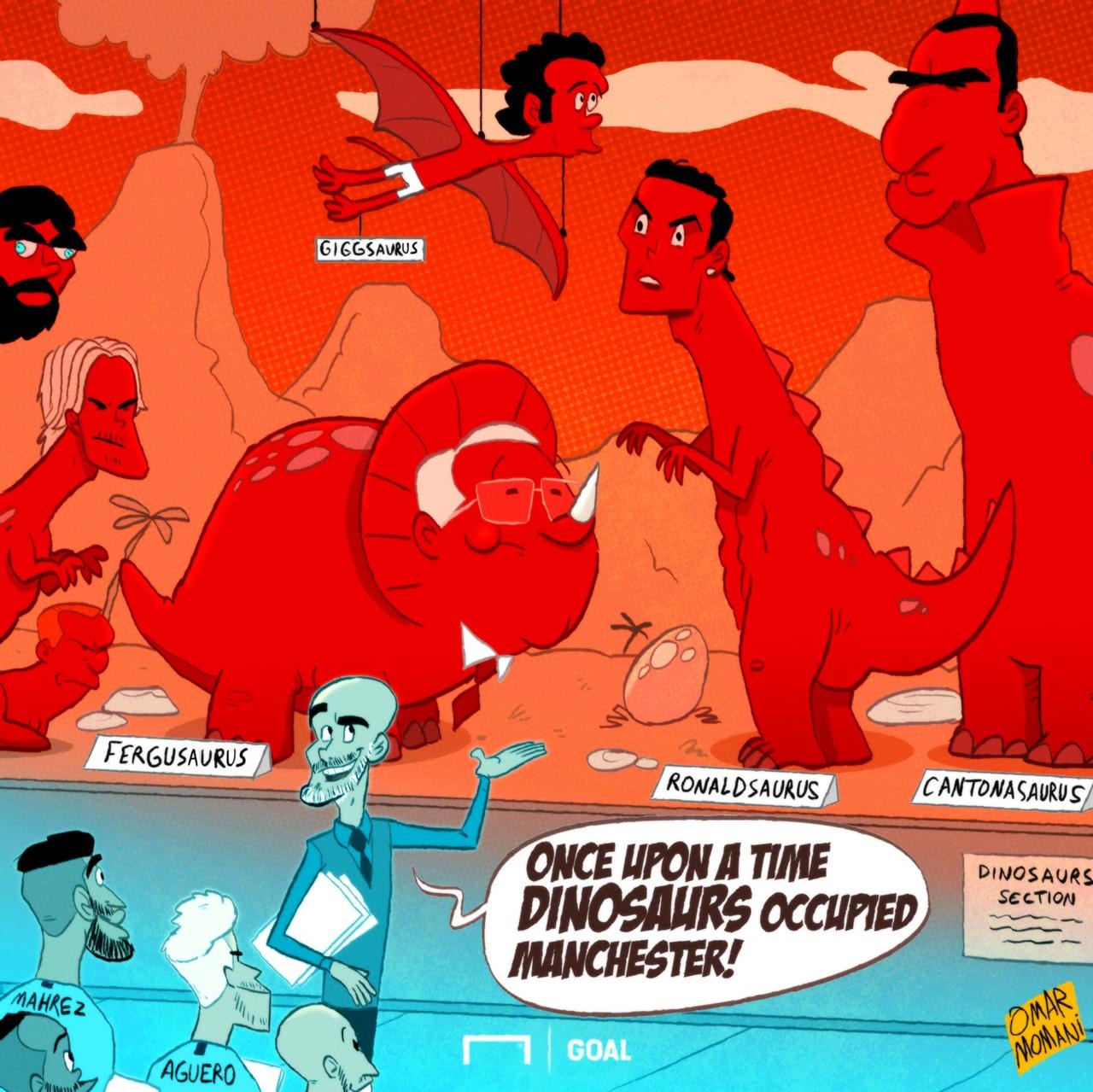 Manchester derby cartoon