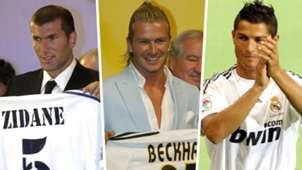 Zinedine Zidane David Beckham Cristiano Ronaldo Real Madrid Galacticos