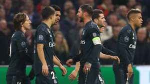 Real Madrid celebrate vs Ajax