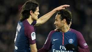 Neymar Edinson Cavani PSG Dijon Ligue 1 17012018