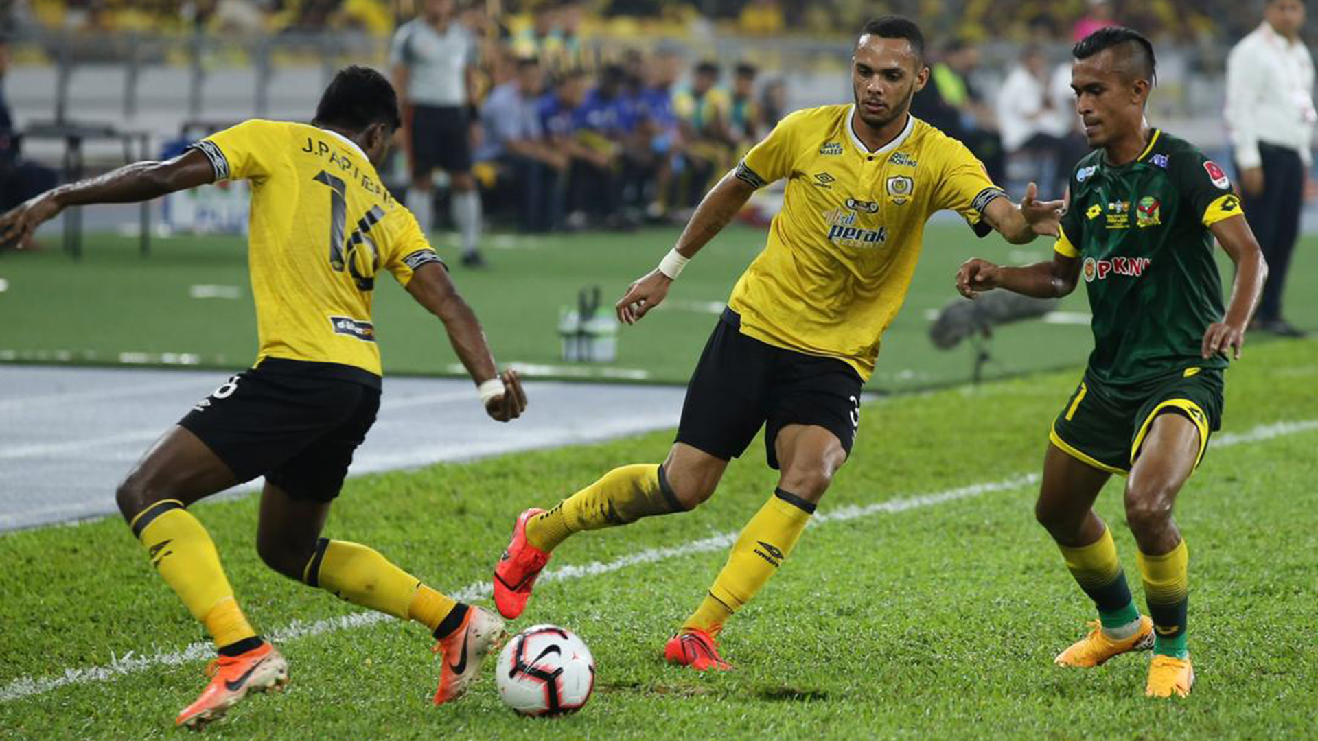 Raianderson da Costa Morais, J. Partiban, Shakir HamzahPerak v Kedah, Malaysia Fa Cup final, 27 Jul 2019