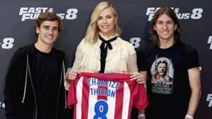 Charlize Theron Griezmann Filipe Atletico Fast Furious