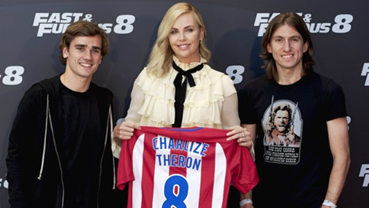 Charlize Theron Griezmann Filipe Atletico Fast Furious