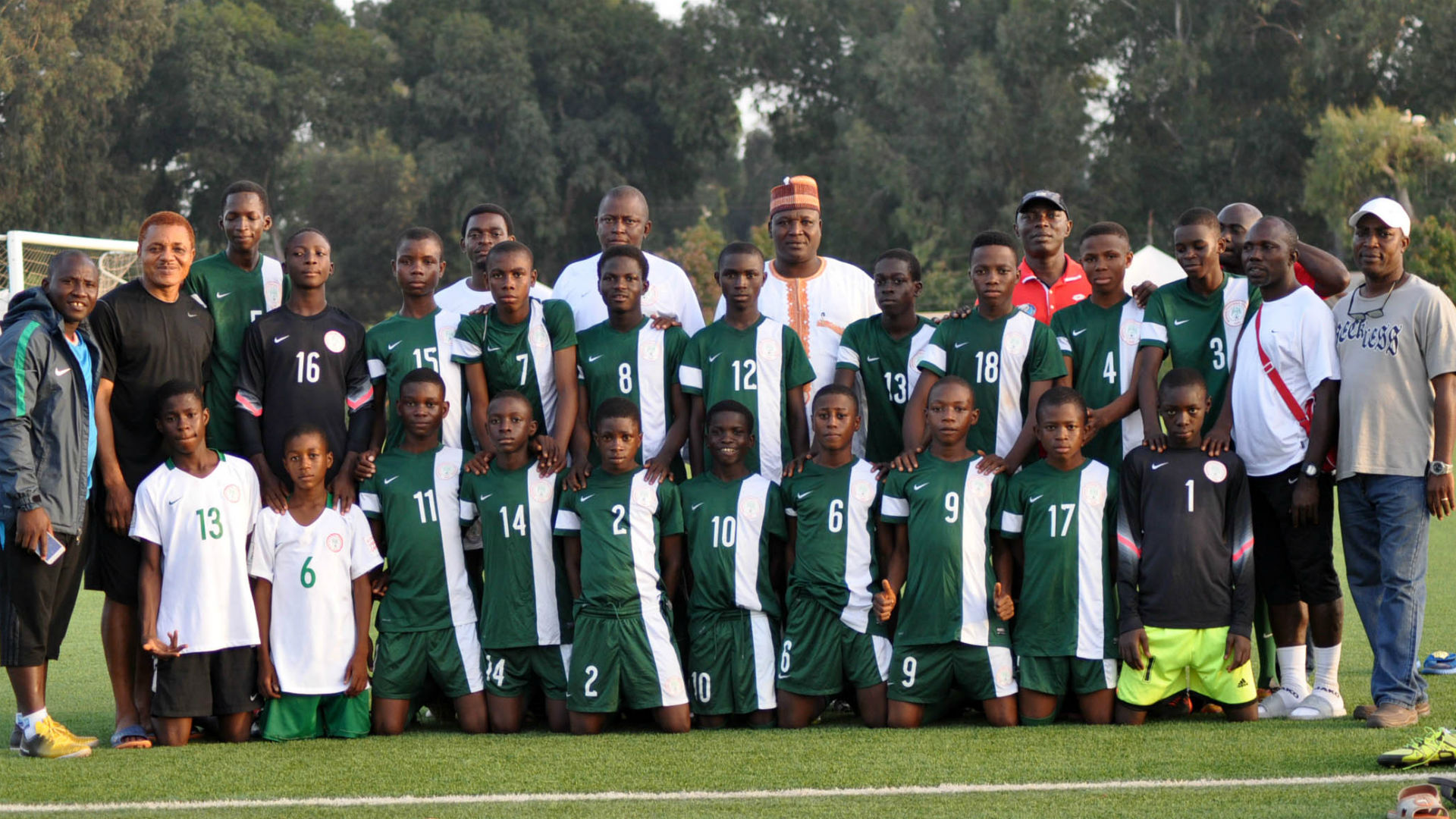 Nigeria U15 boys in Rabat, August 2017