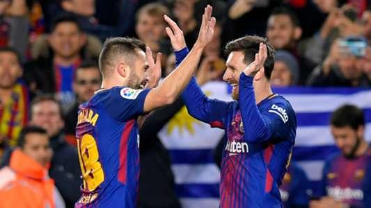 Lionel Messi Jordi Alba Barcelona Copa del Rey 11012018