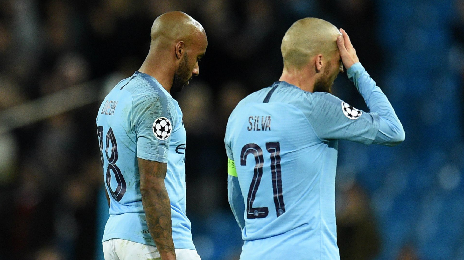 Fabian Delph David Silva Manchester City Lyon Champions League 2018-19