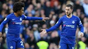 Willian Eden Hazard Chelsea Wolves 100319
