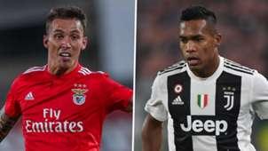 Alex Grimaldo Alex Sandro Benfica Juventus 2018