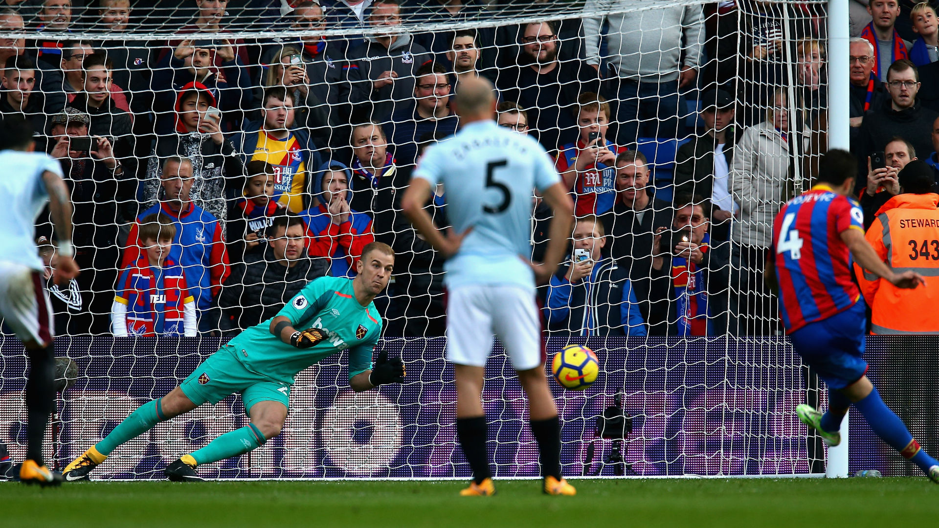 Joe Hart West Ham Crystal Palace