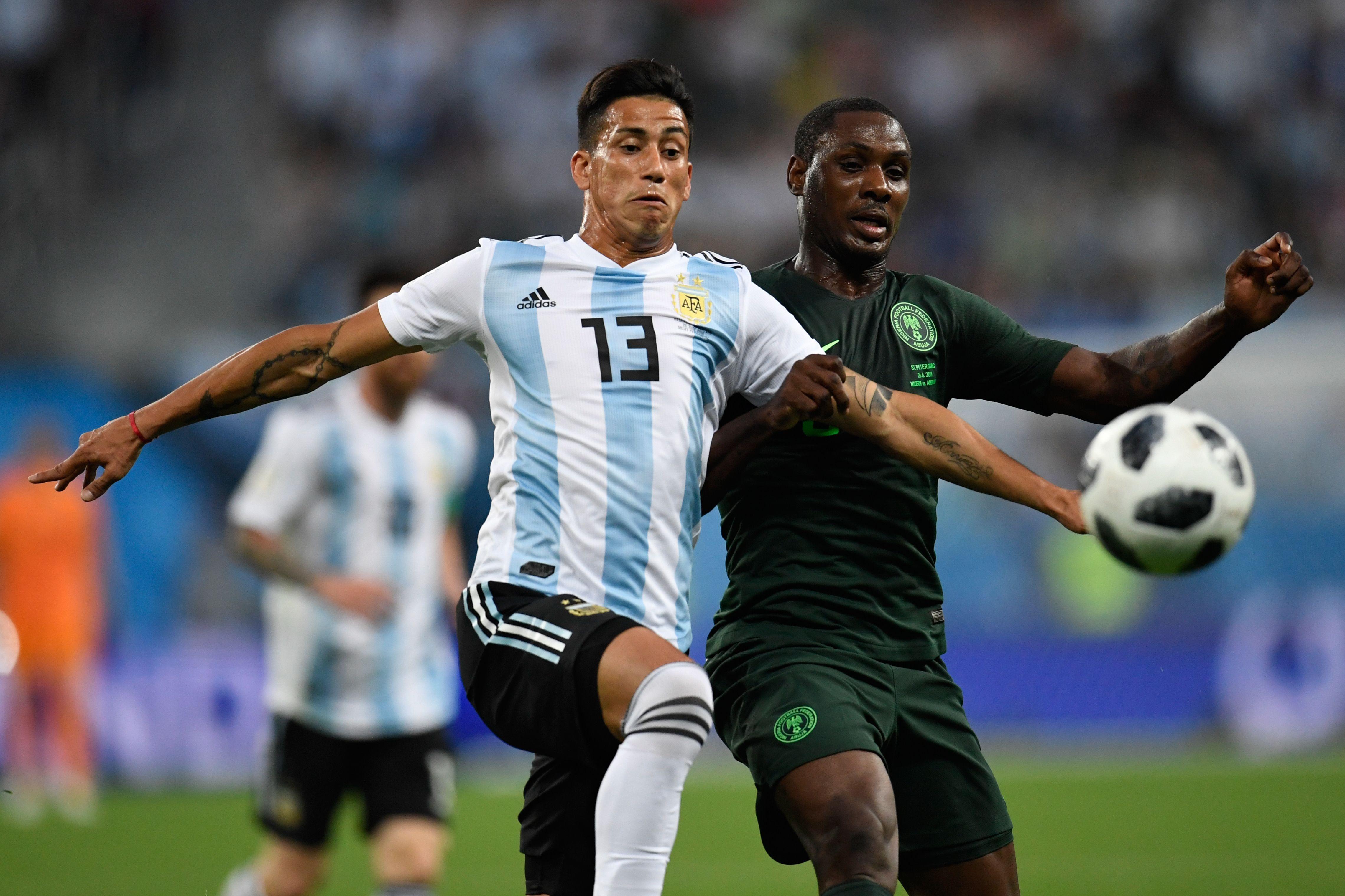 Maximiliano Meza & Odion Ighalo - Nigeria v Argentina