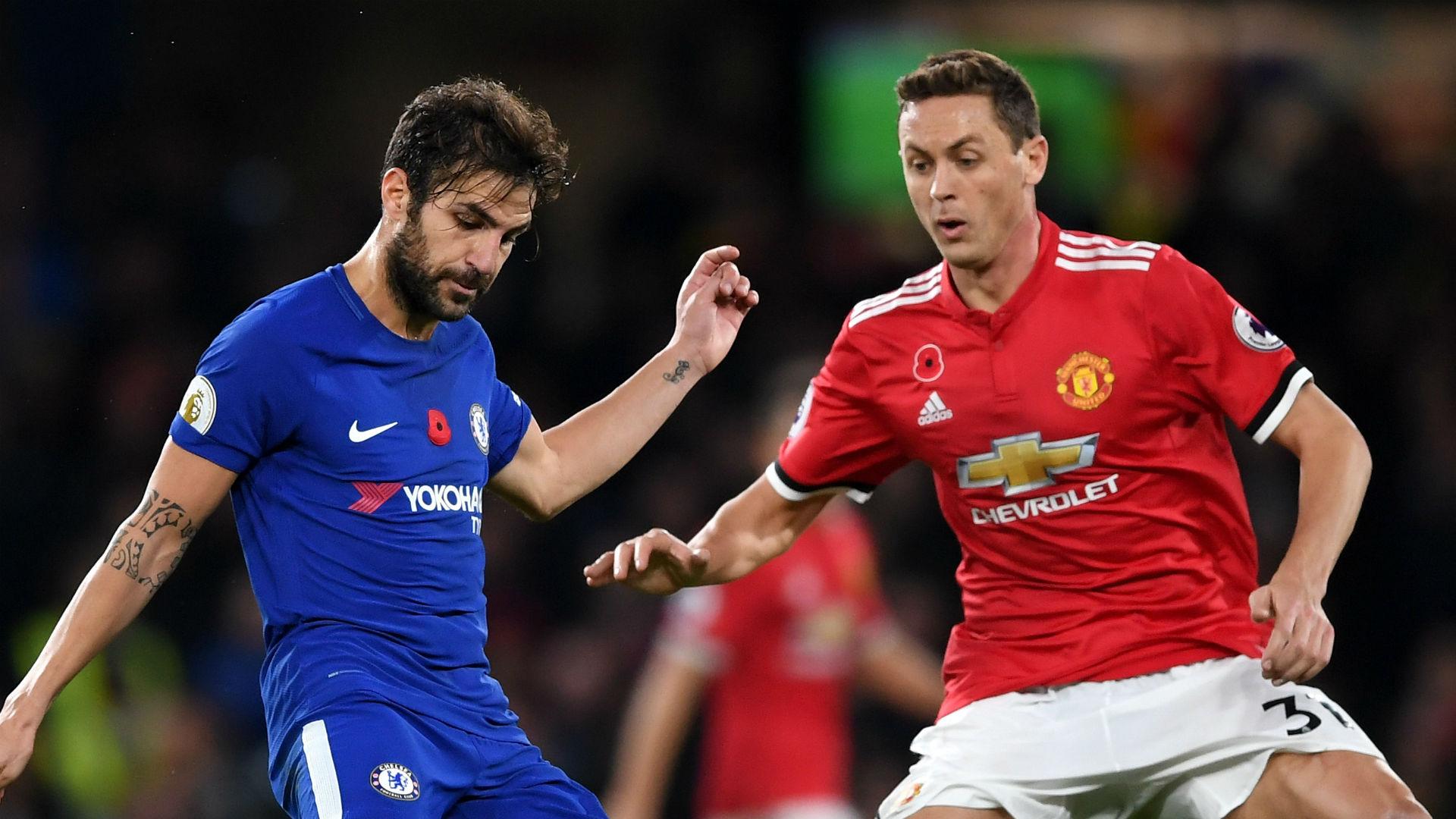 Cesc Fabregas Chelsea Nemanja Matic Manchester United